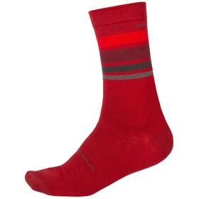 Endura BaaBaa Merino Stripe Socks Men red